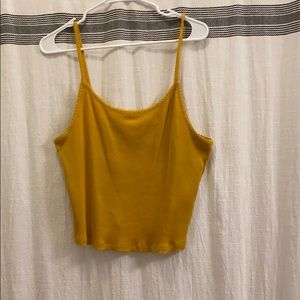 Mustard Yellow Crop Tank